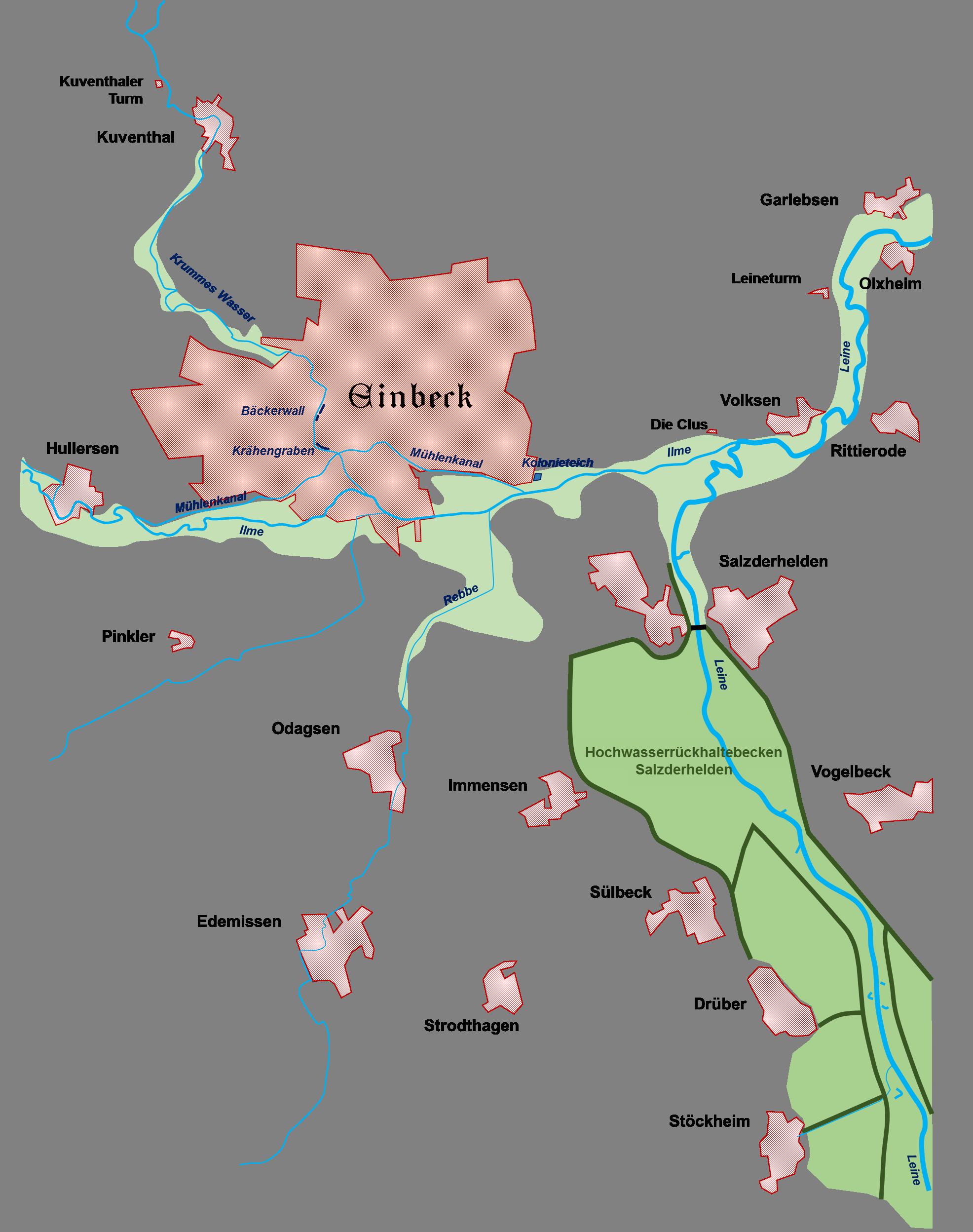 Übersichtskarte der Vereinsgewässer